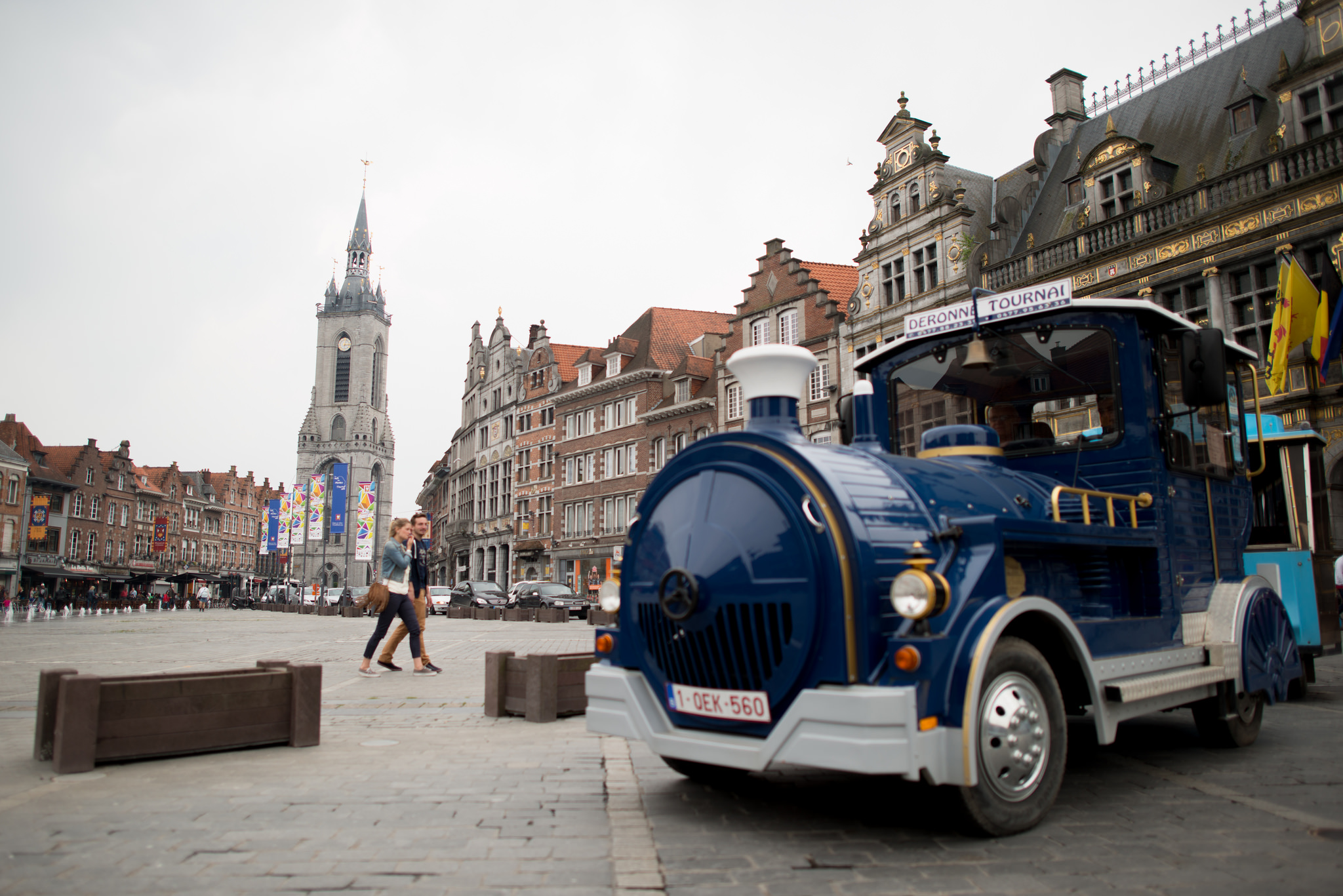 Balade en petit train à Tournai