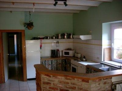 Ferme d'en bas - Gîte vert - cuisine