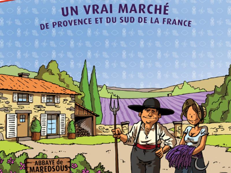Marché provençal à Maredsous