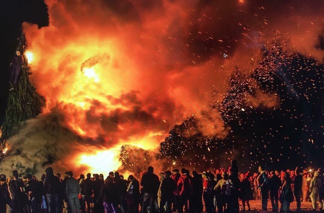Bonfire in Devant-les-Bois