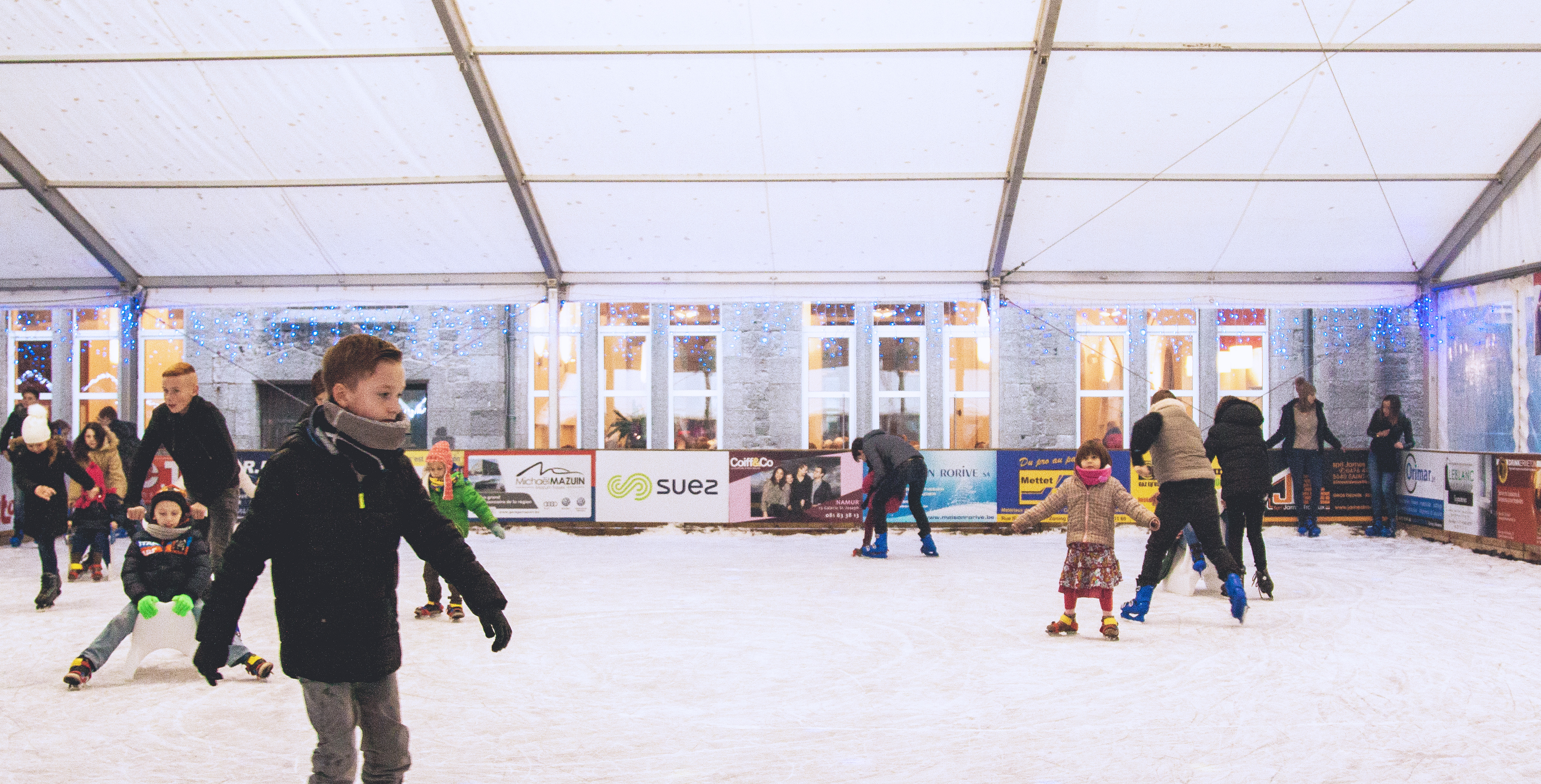 Ice rink in Maredsous