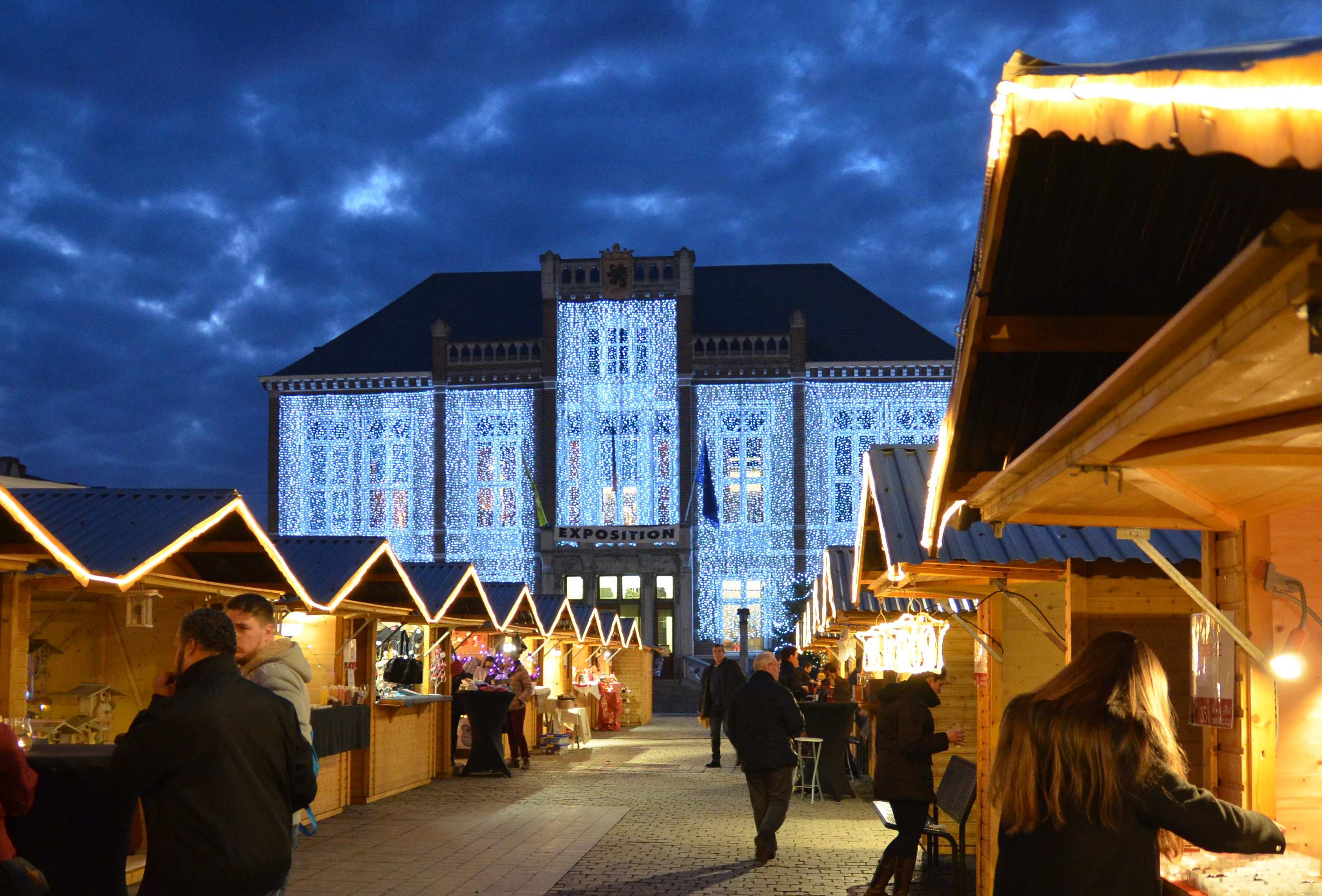 Christmas market in Andenne