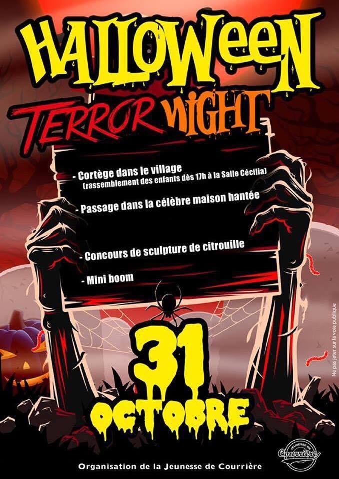 Halloween night à Courrière