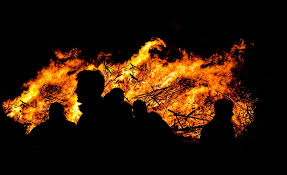 Big fire in Spontin