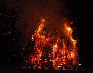 Bonfire in Maizeret