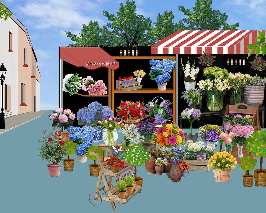 Marché aux fleurs sur la(...)
