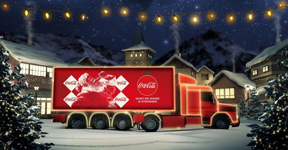 Camion de Noël Coca-Cola