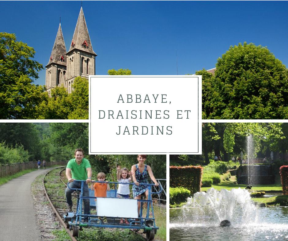 Abbaye, Draisines et Jardins