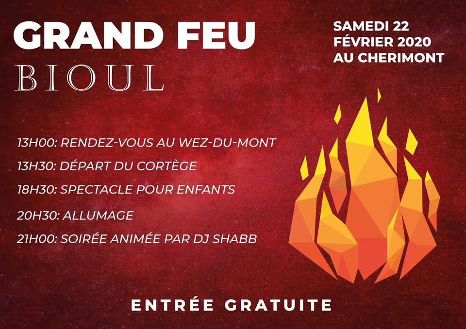 Fire and Carnival  in Bioul
