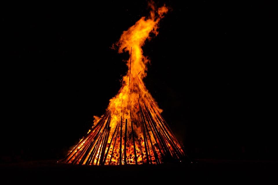 Big fire in Lesve