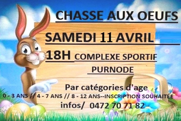 Chasse aux oeufs purnode