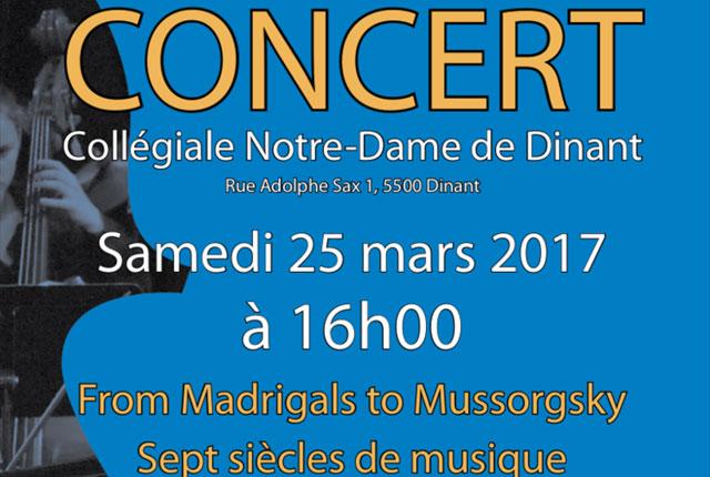 Concert à la Collégiale :(...)