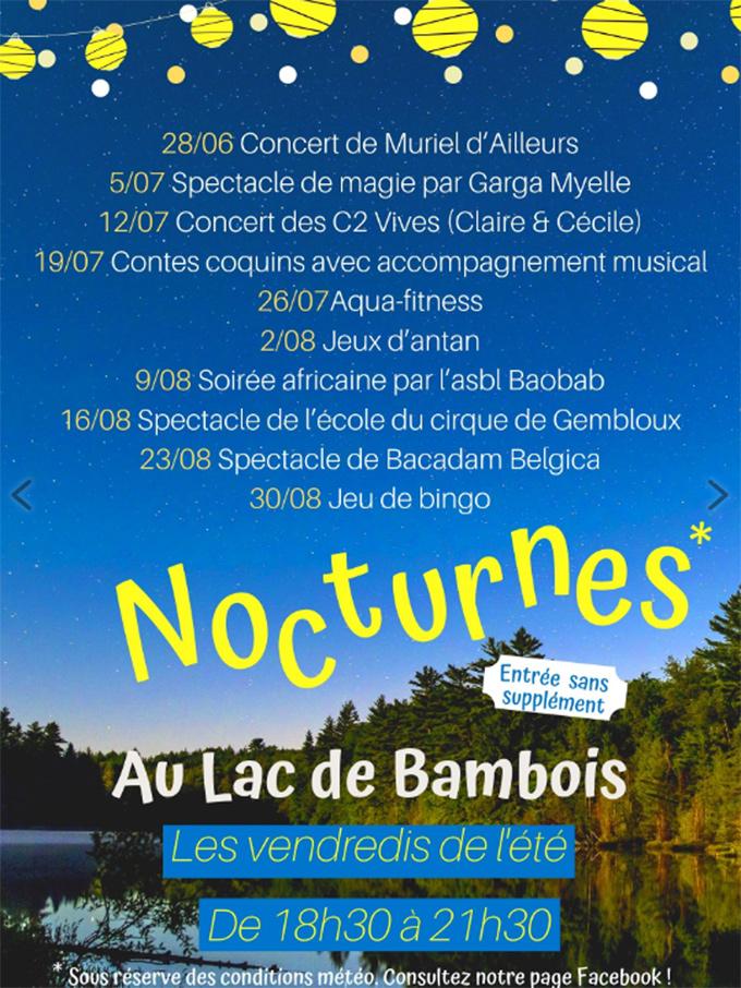 Nocturnes au lac de Bambois